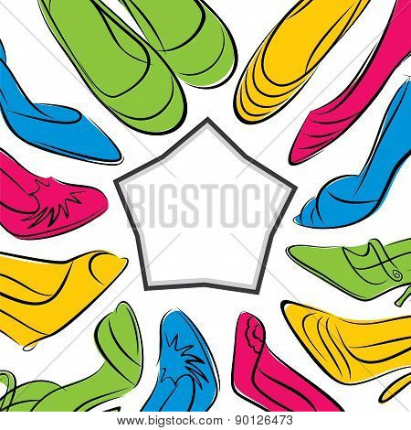 colorful footwear banner design