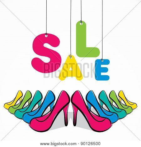 footwear sale banner design