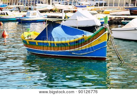 The Traditional Maltese Luzzu Boat, Malta