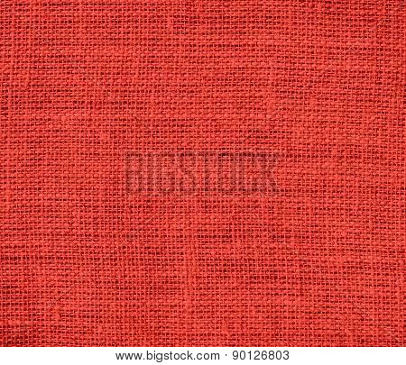 CG Red color burlap texture background