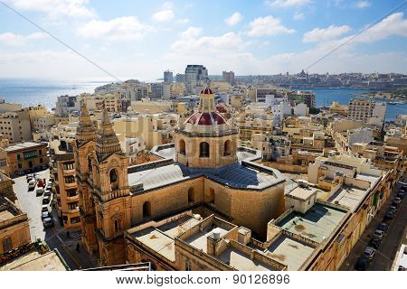 The View On Sliema And Valleta, Malta