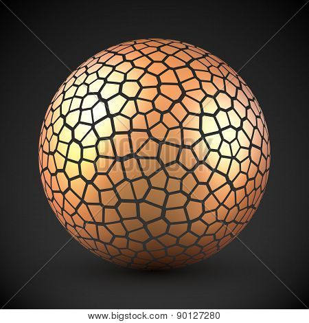 Abstract cracked vector sphere