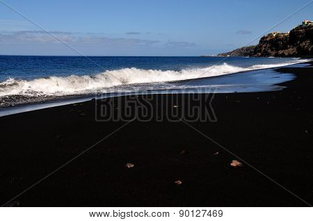 Beach, Stones And Waves