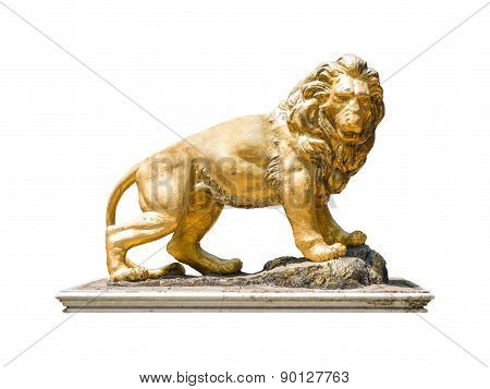 Golden Lion Statue