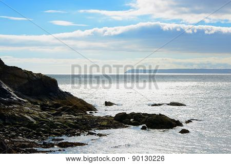 Sea View From Polkerris, Cornwall, England
