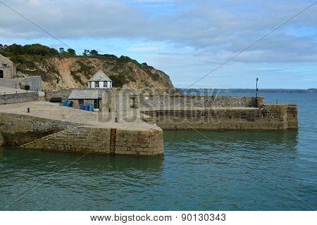 Charlestown Harbour In Cornwall, England