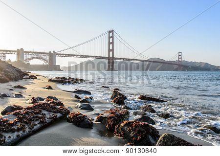 Golden gate bridge at Crissy field, San Francisco