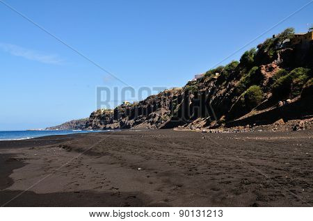 Rugged Cliff Over Beach