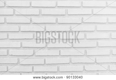 White Misty Brick Wall For Background Or Texture, Lighting Right Side