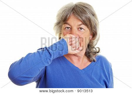 Retired Woman Falling Silent