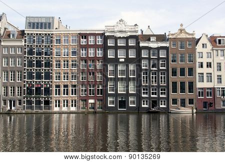 View At The Rokin Canal In Amsterdam Netherlands