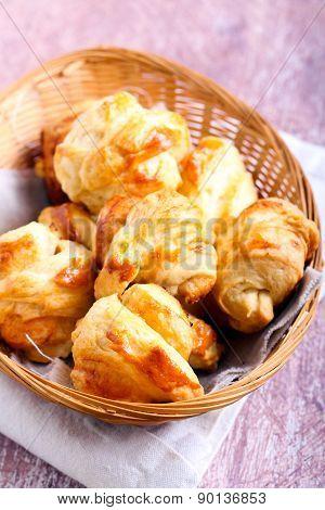 Homemade Puff Pastry Mini Rolls
