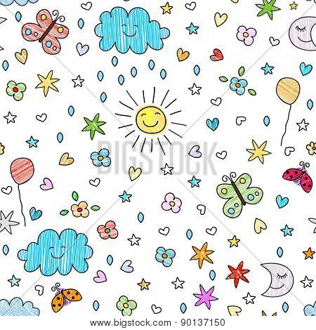 colorful seamless pattern for kids