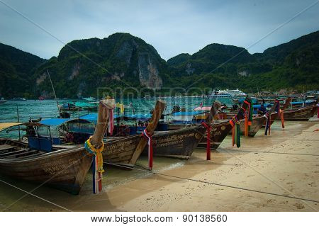 Fishing Boats In Krabi