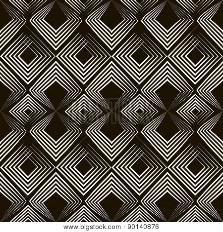 Seamless Antique Pattern Ornament. Geometric Stylish Background Texture