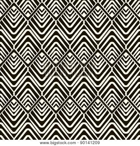 Vector Seamless Pattern, Modern Geometric Stylish Texture