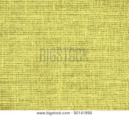 Citrine color burlap texture background