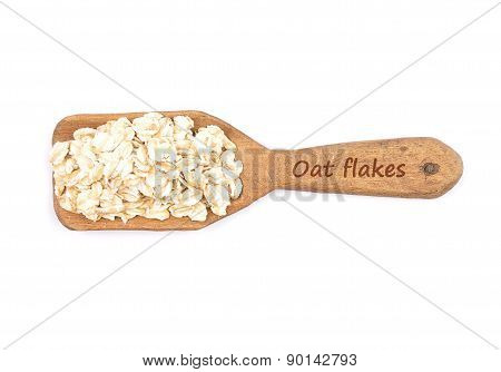 Oat Flakes On Shovel
