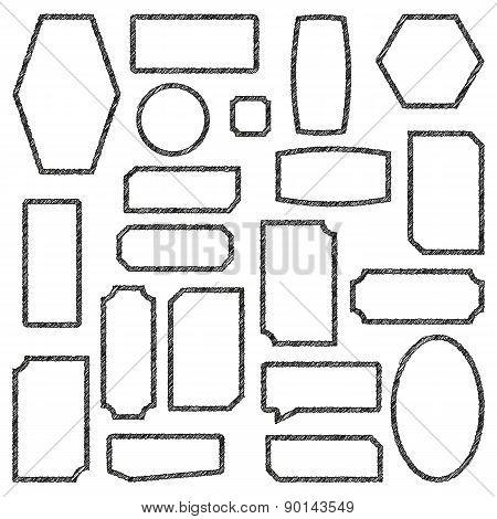Set Frames, Vector Illustration.