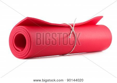 Mat For Fitness, Yoga And Pilates Isolated On White