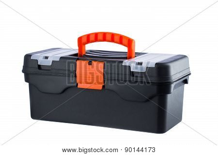Tool Box Or Case With Handle Isolated On White