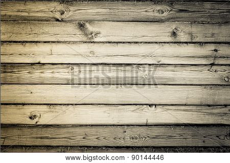 Wall made of timber. Wood plank texture background