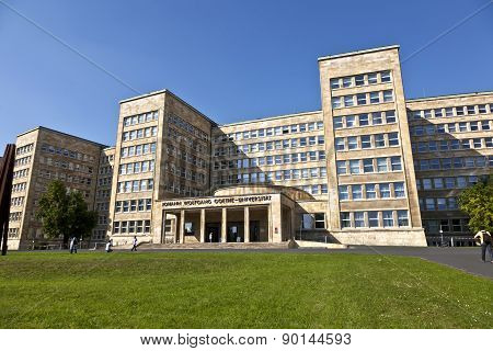 Famous Ig Farben House, Former Used As Headquarter Of The Us Army, Nowadays A University