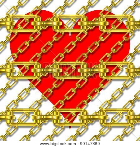 Iron Chains With Heart Texture
