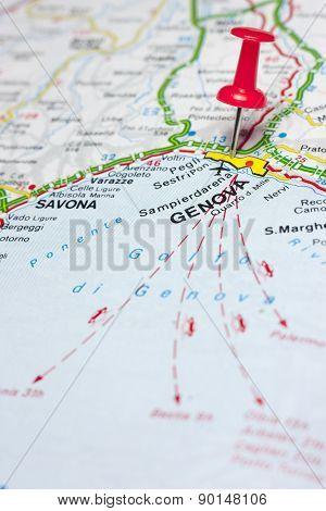 Genova Italy Map