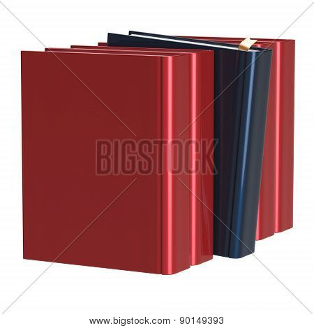 Red Books Row One Black Selected Choosing Leadership