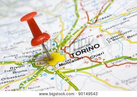 Torino On A Map
