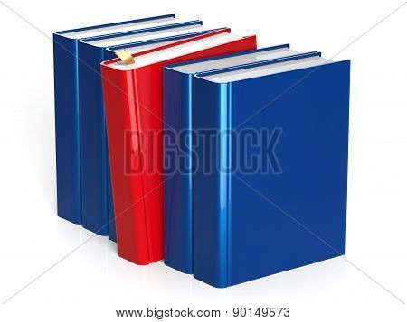 Blue Books Row One Red Selected Choosing Take Answer