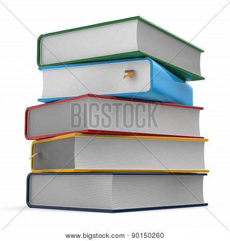 Stack Of Books Covers Colorful Five Different Template