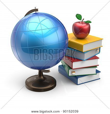 Globe Apple Books Blank Knowledge Symbol