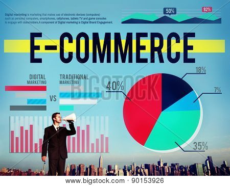 E-Commerce Finance Digital Marketing Statistics Concept