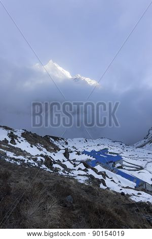 Mbc Or Machhapuchhare Base Camp In Annapurna Trekking Trail, Nepal