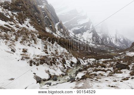 Annapurna Trekking Trail In West Nepal.