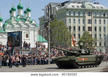 The Armata is a advanced heavy military tracked vehicle platform. Victory Day Parade to commemorate