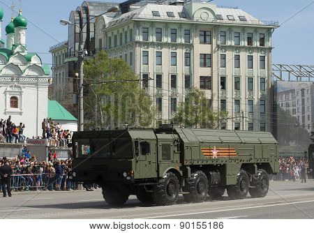 The 9K720 Iskander is a mobile short-range ballistic missile system. Victory Day Parade to commemora