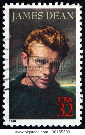 Postage Stamp Usa 1996 James Dean, American Actor