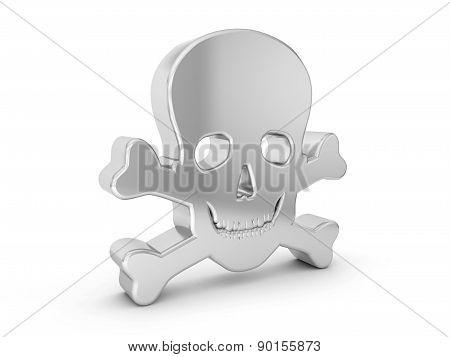 Silver Skull Symbol
