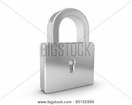 Silver Padlock Symbol