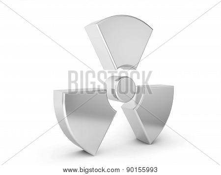 Silver Radiation Symbol