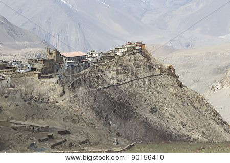 Gompa Or Monastry In Jharkot, Mustang District, Nepal