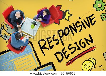 Responsive Design Responsive Quality Analytics Imagination Concept