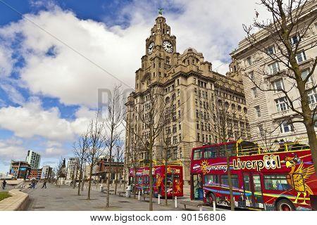 Pier Head in Liverpool.