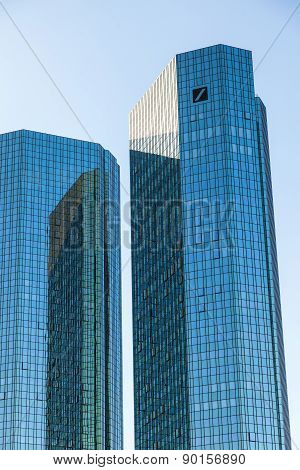 Twin Towers Deutsche Bank I And Ii In Frankfurt.