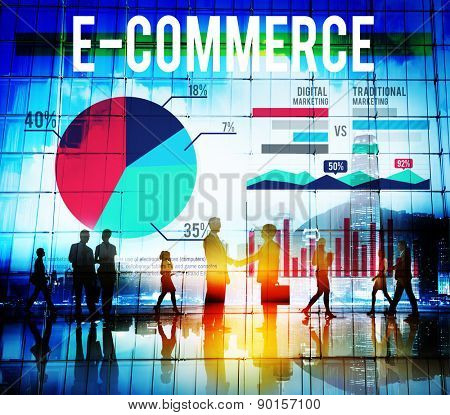 Business People Handshake Deal E-commerce Concept
