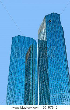 Twin Towers Deutsche Bank I And Ii In Frankfurt.