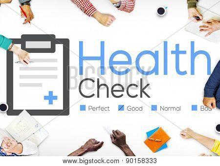 Health Check Insurance Check Up Check List Medical Concept
